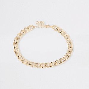 Gold colour chunky curb chain choker d50f3d43f