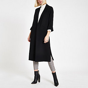 Black blazer duster jacket