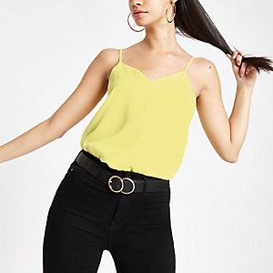 Caraco jaune croisé dans le dos