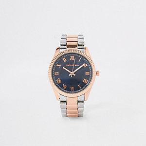 Armbanduhr in Roségold und Silber