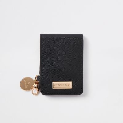 Black Fold Out Compact Mirror by River Island