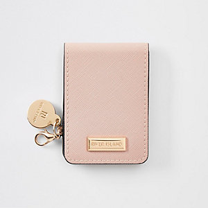 Pink fold out compact mirror
