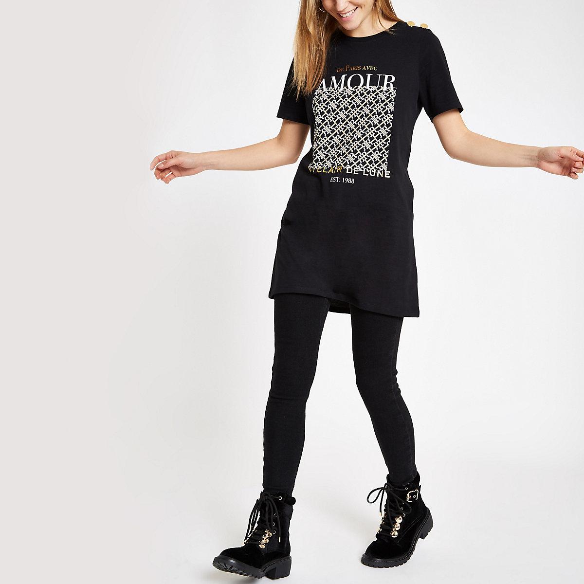 "Schwarzes T-Shirt ""Amour"""
