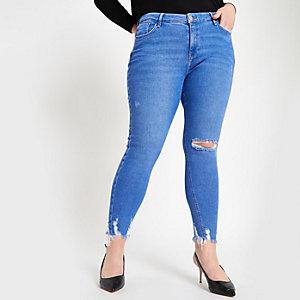 RI Plus - Amelie - Lichtblauwe ripped skinny jeans