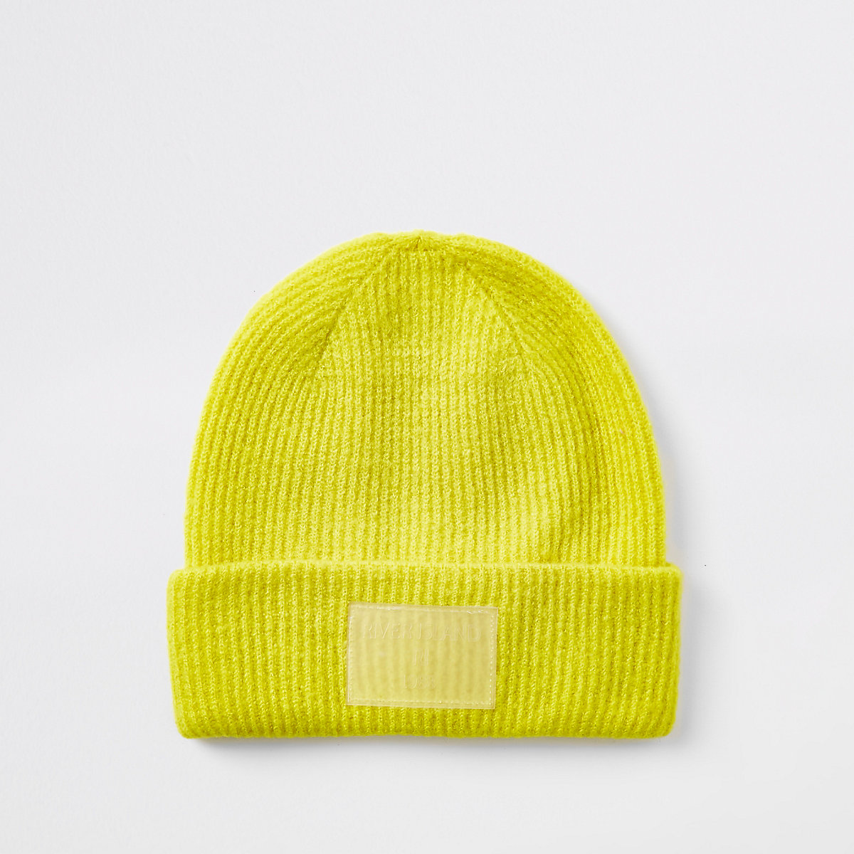 Bright yellow beanie hat - Hats - Accessories - women 3015df4e738