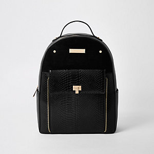 Black front pocket backpack