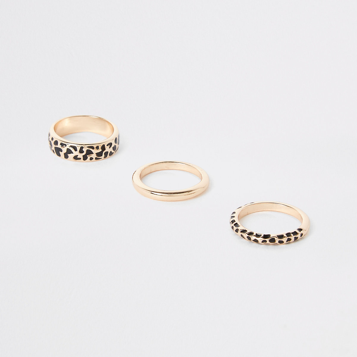 Gold colour leopard design ring pack
