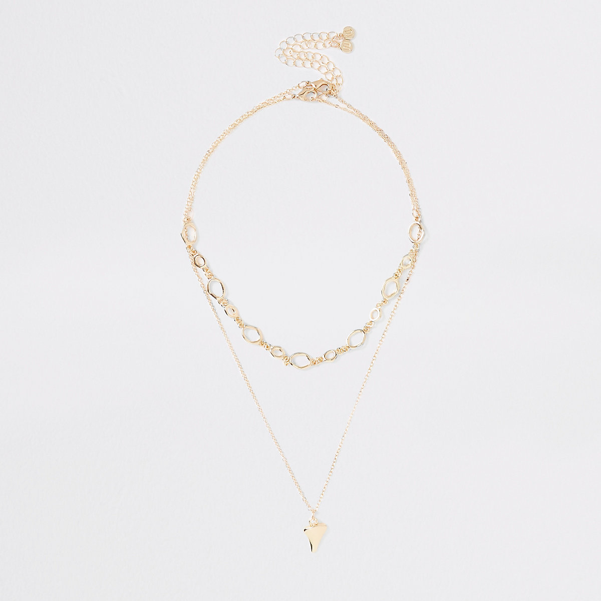 Gold color layered necklace multipack