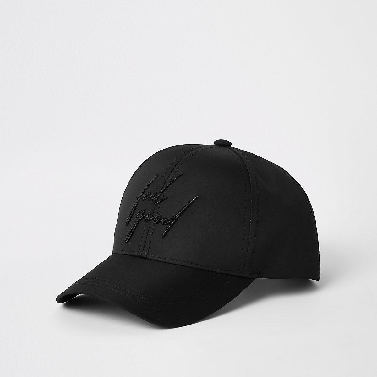 Black 'feel good' baseball cap