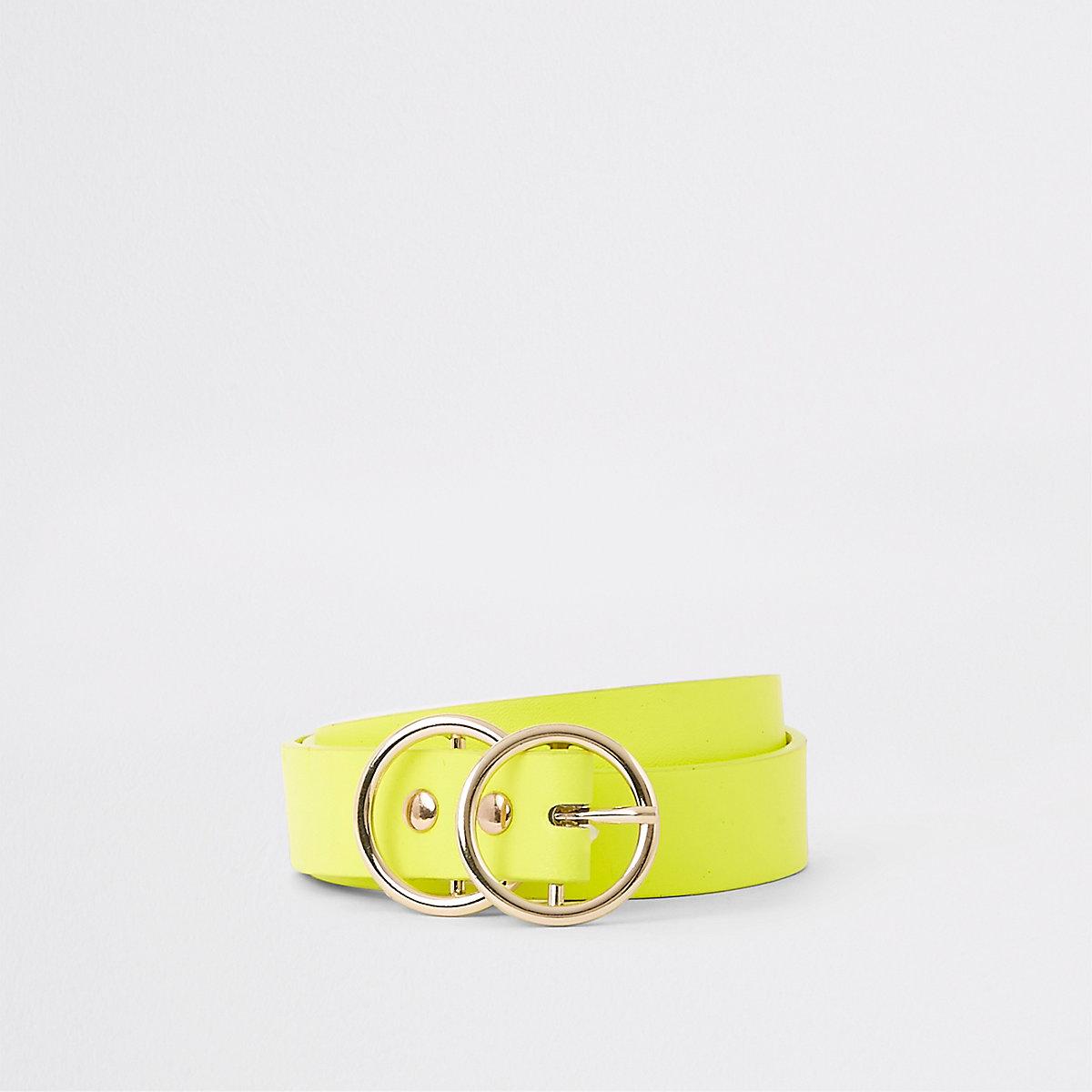 Mini ceinture jaune fluo à deux anneaux - Ceintures - Accessoires ... 945d63ffe8b