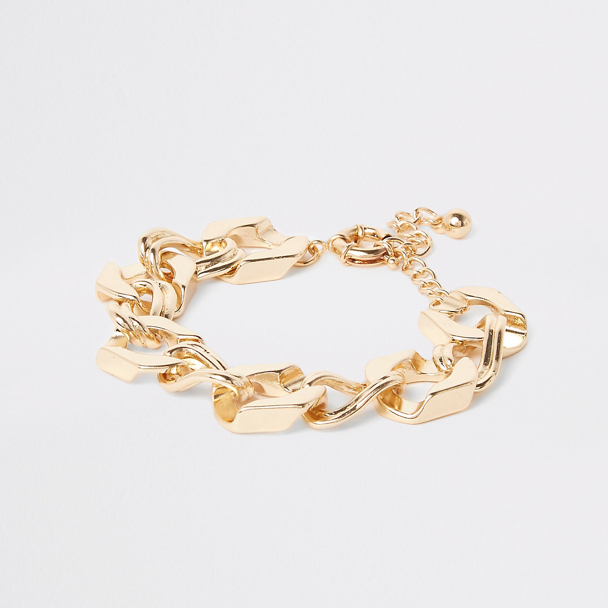 Gold colour chunky biker chain bracelet