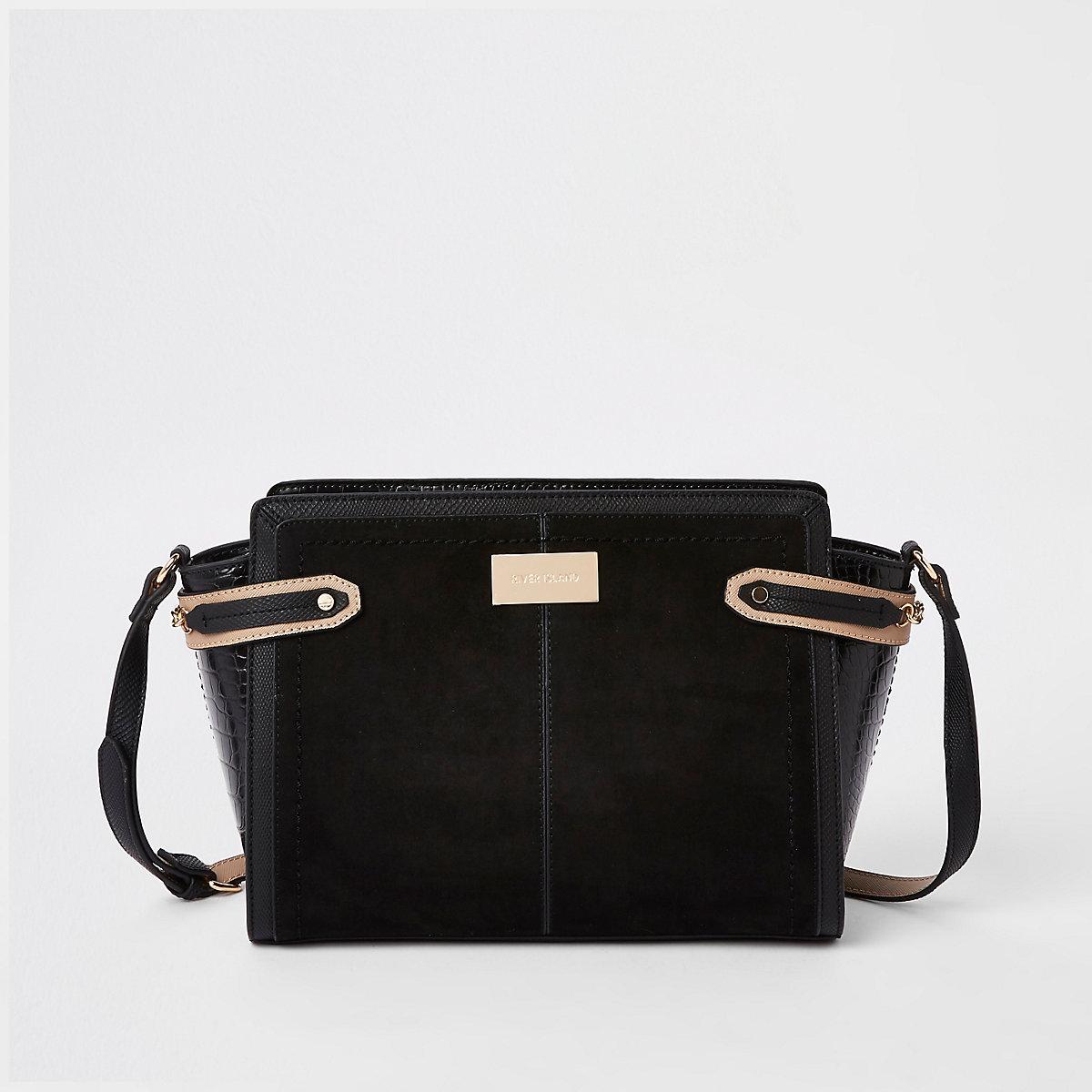 9078e5a3d1 Black tab side cross body bag - Cross Body Bags - Bags   Purses - women