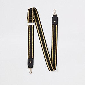 Black metallic bag strap