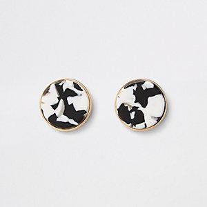 Boucles d'oreilles cercles dorées et argentées