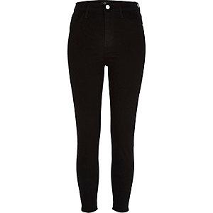 RI Petite - Zwarte Harper jeans met hoge taille