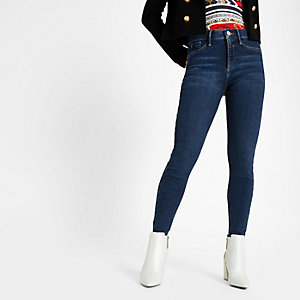 RI Petite - Molly - Donkerblauwe jegging met halfhoge taille