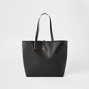 Black winged tote bag