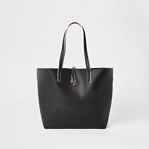 Black winged beach tote bag
