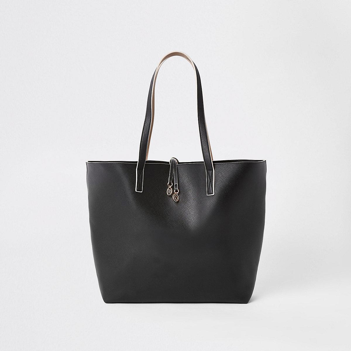 Black winged tote bag