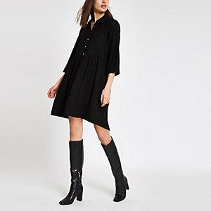 Mini robe chemise noire
