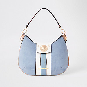 Blue jaguar slouch under arm bag