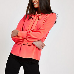 Loose Fit Bluse in Neonpink