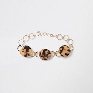 Braune, mehrreihige Halskette