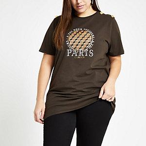 """Plus – Braunes T-Shirt """"Paris l'amour"""""""