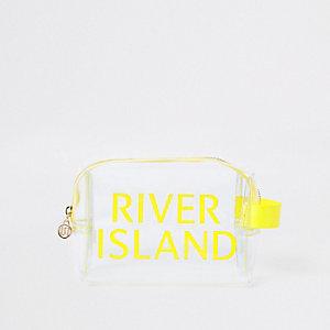 Yellow perspex RI makeup bag