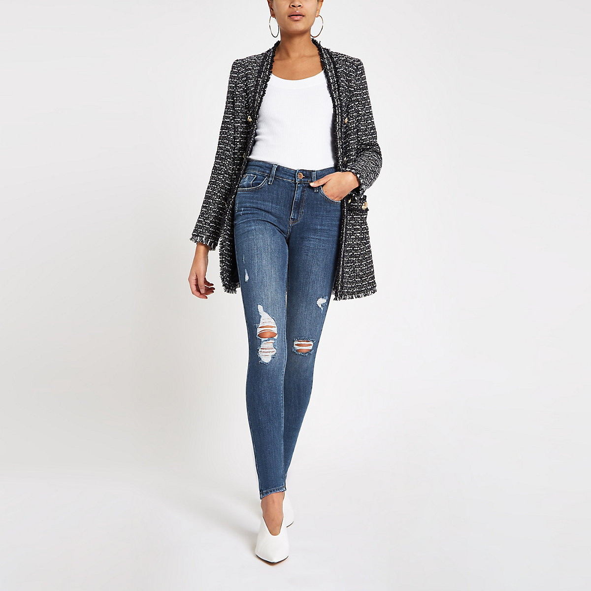 Blue Amelie ripped skinny jeans