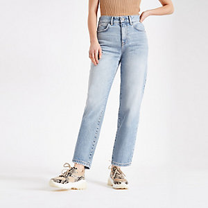Light blue barrel leg jeans