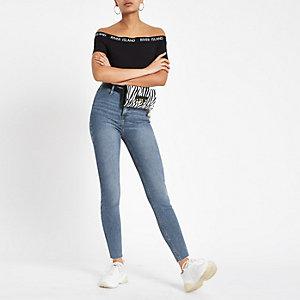 Kaia – Hellblaue Jeans mit hohem Bund