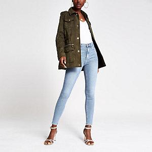 Hailey - Lichtblauwe jeans met hoge taille