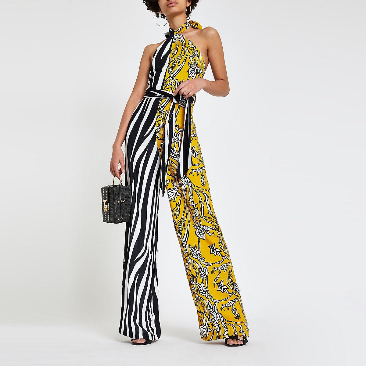 Forever Unique zebra stripe jumpsuit