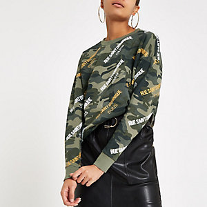 Khaki camo 'Rue Saint Dominique' sweatshirt
