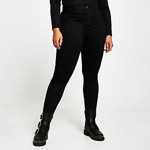 RI Plus - Kaia - Zwarte discojeans met hoge taille