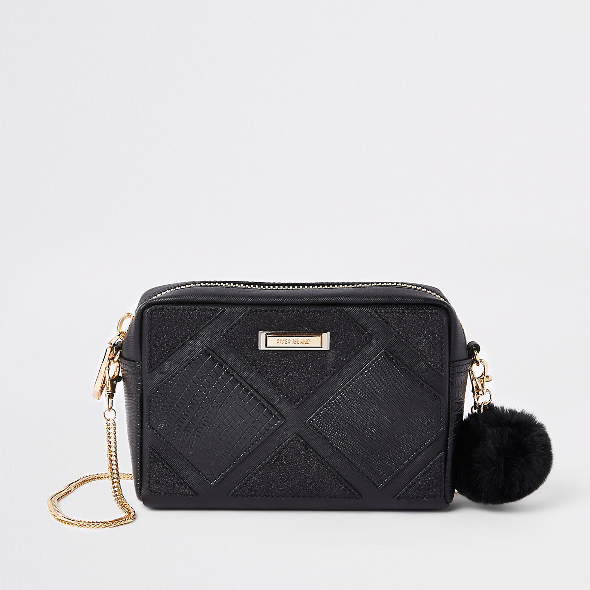 Black cutabout cross body bag