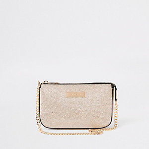 Gold glitter underarm mini bag