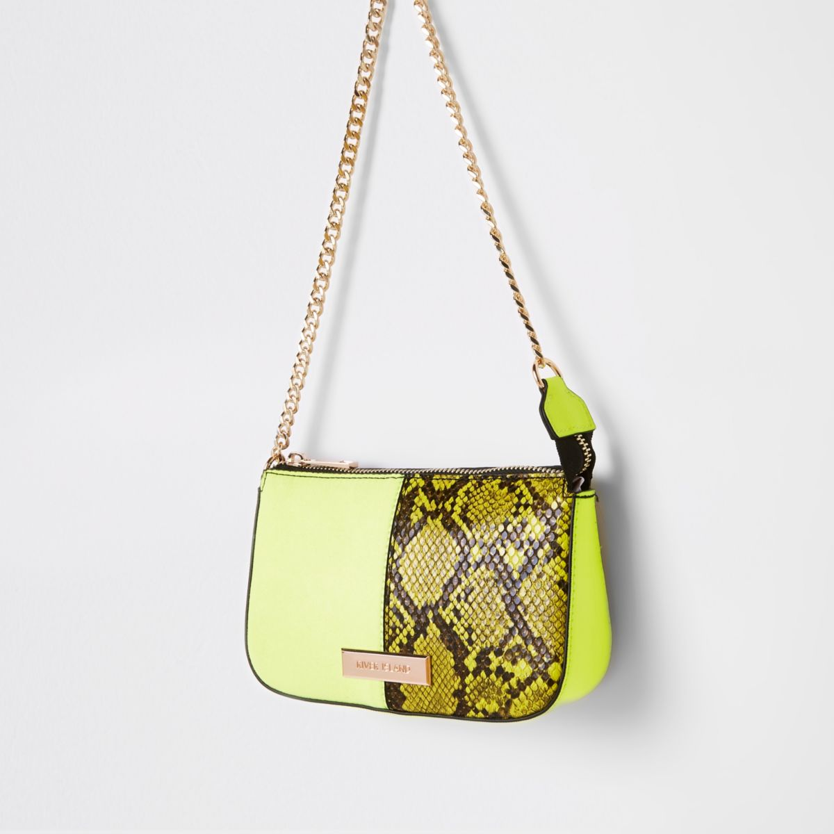 Neon green underarm mini bag