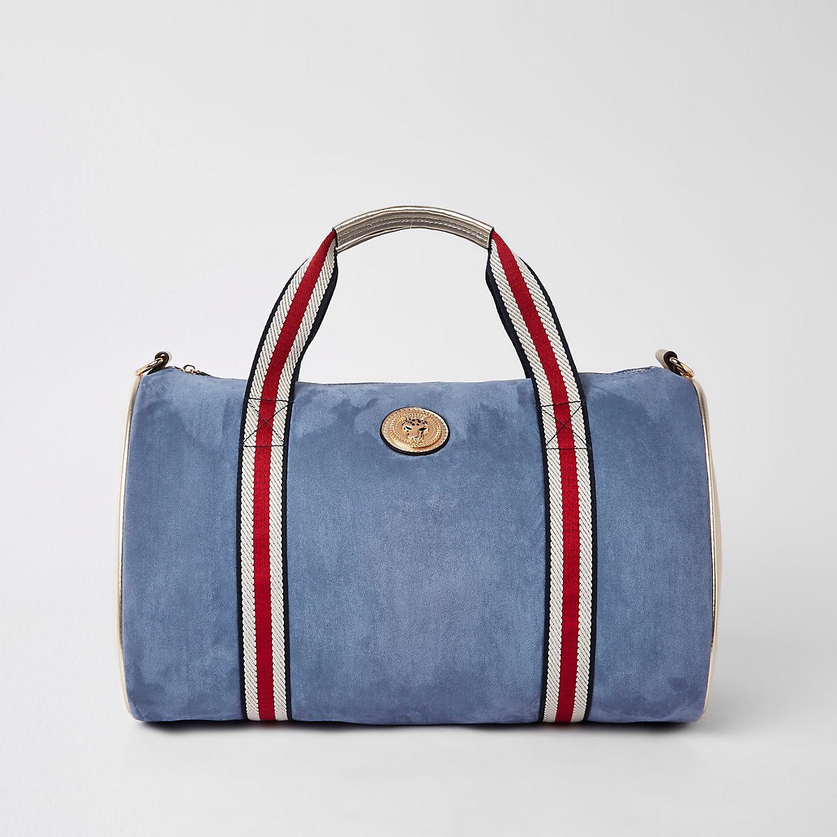 Blue jaguar duffle weekend bag