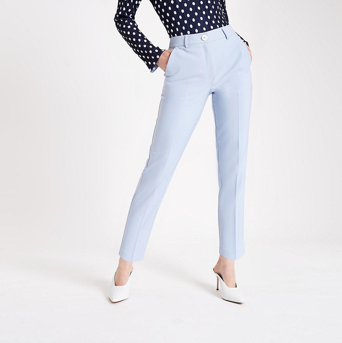Light blue cigarette pants