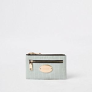Grüne, ovale Mini-Geldbörse