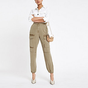 Beige Hailey utility pants