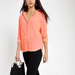 Lichtroze blouse met lange mouwen