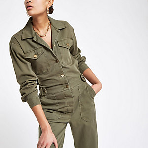 Utility-Overall in Khaki