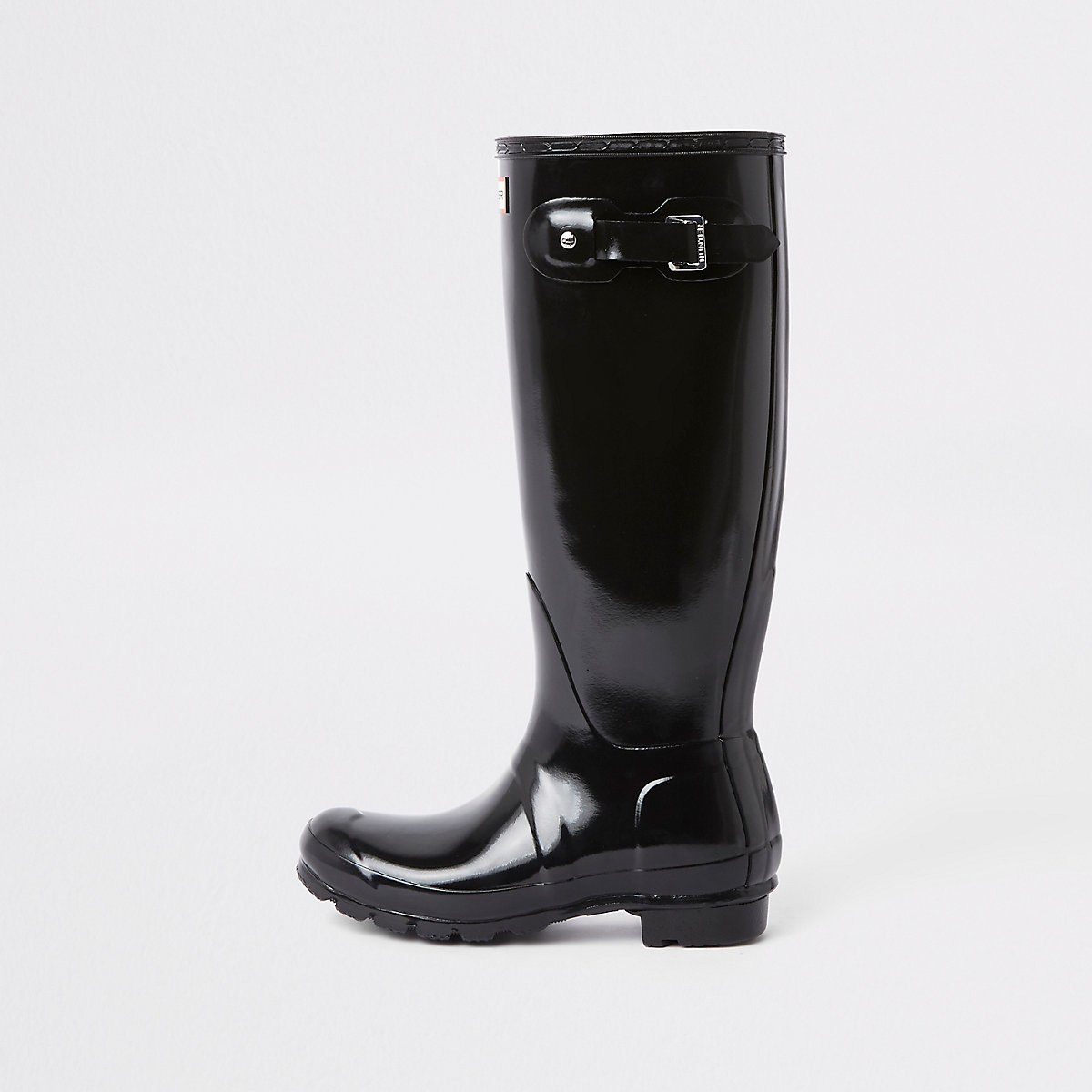 Hunter black tall gloss rubber boots