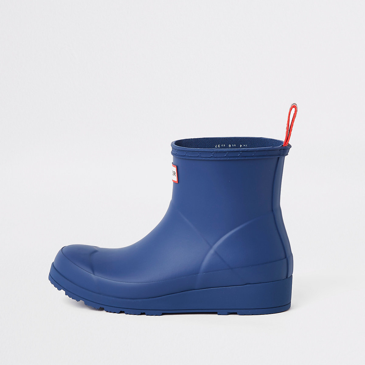 Hunter Play blue short wellington boots