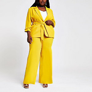 Plus – Pantalon large jaune