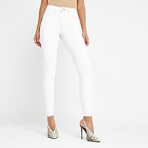 Beige Molly mid rise jeggings