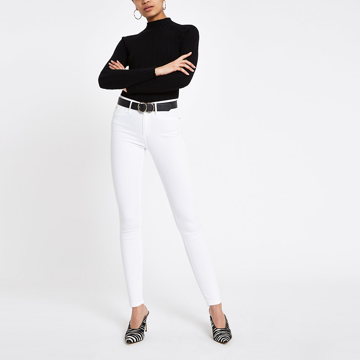 White Molly mid rise jeggings
